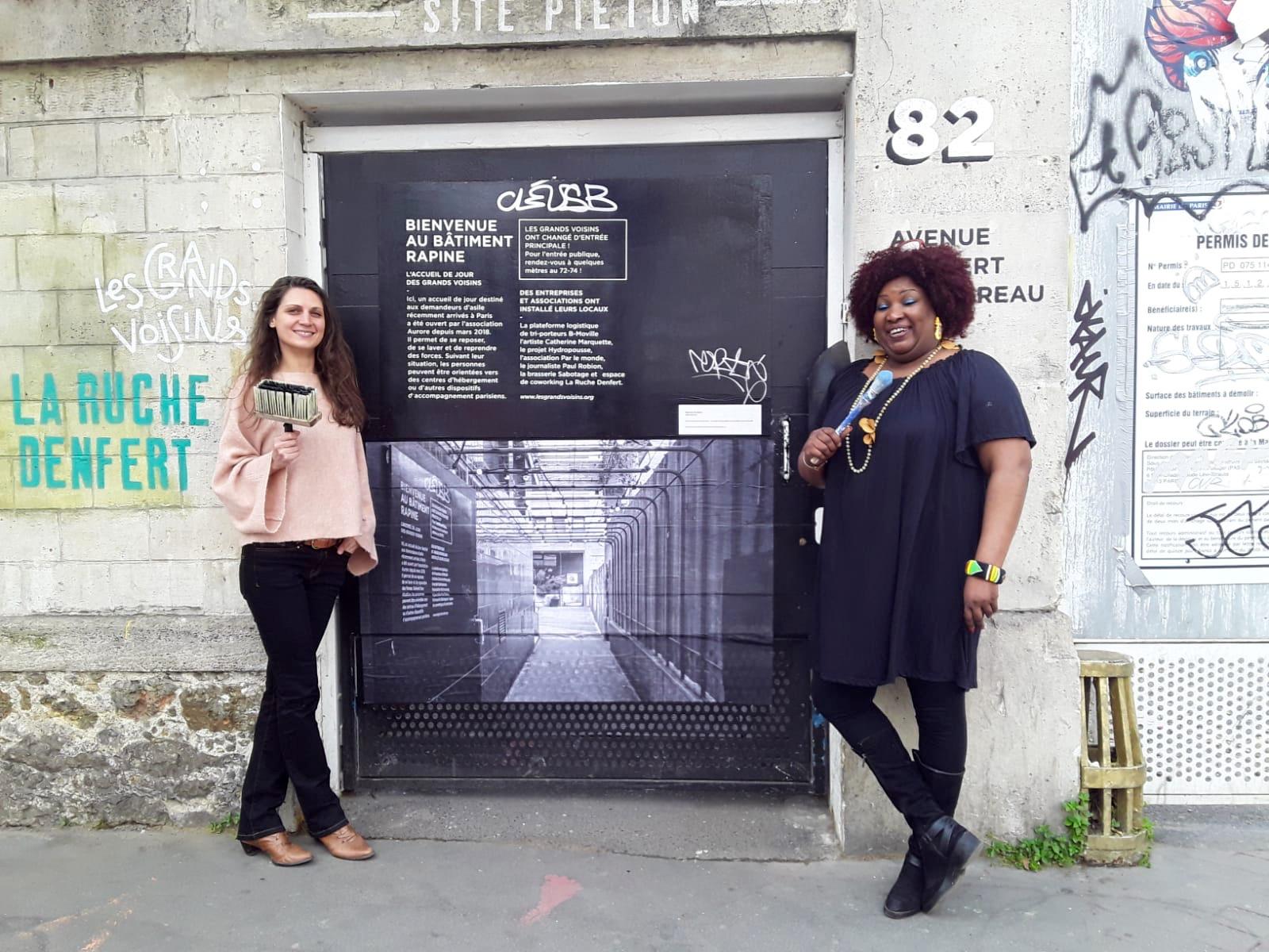 Expo Passage - Bâtiment Rapine - Grands Voisins © Katia Boulinet